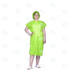 Халат кимоно одноразовый  р.52-54, Спанбонд, цв.зеленый, пл.25 г/м2