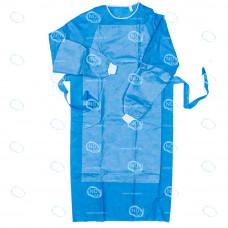 """Халат одноразовый хирургический """"Идеал супер"""" р.48-50, рукав на манжете, СММС пл.42г/м2, стерильный"""