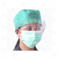 Маска медицинская тип-3 (трехслойная с экраном на резинках по 50шт/уп)