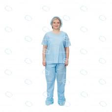 """Набор одежды медицинской """"Комфорт"""" (рубашка, брюки) р.44-46, Вуденпалп пл.56г/м2"""