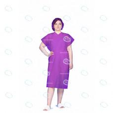 Халат кимоно одноразовый  р.52-54, Спанбонд, цв.фиолетовый, пл.25 г/м2